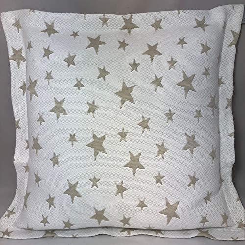 Leiper Colcha Cubrecama ESTRELLITAS de Jacquard Estrellas en Color Gris/Beig/Rosa/Azul (Todas Las Medidas). Reversible