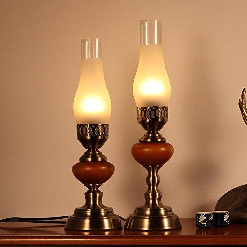 Kostüm Log (GBT Kreative Massivholz Tischlampe Warm Schlafzimmer Nachttischlampe American Retro Chinesischen Wohnzimmer Studie Candlestick Led Log Lichter (Led-Leuchten, Warmes Licht, Weißes Licht, Kronleuchter, Innenbeleuchtung, Außenleuchten,)