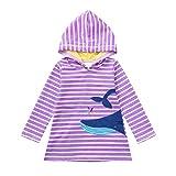 VIKITA Mädchen Baumwolle Langarm Streifen Tiere T-Shirt Kleid SMK086 5T