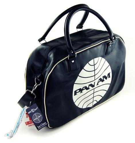 LOGOSH!RT Retro Airliner Tasche Reisetasche Sporttasche PAN AM - TRAVEL BAG - DUNKELBLAU