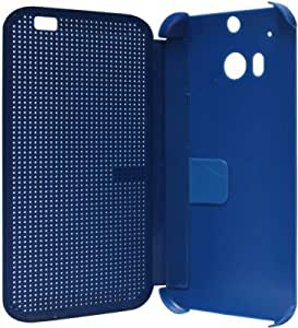 Techno Clouds Dot View Flip Cover For HTC Desire M8 (Blue)