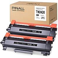 PINALL 2 - Tóner Compatible para Brother TN-2420 TN2420 (with Chip) Negro para Brother HL-L2310D HL-L2350DN HL-L2370DN HL-L2375DW DCP-L2530DW DCP-L2510D MFC-L2710DN MFC-L2710DW MFC-L2710DW
