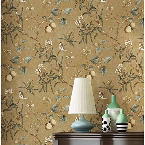 Scegli la parola multi-room love girl decal size carta da parati vintage con motivo floreale e uccelli