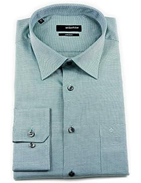 Seidensticker Herren Langarm Hemd Splendesto Regular Fit grün strukturiert 110900.73