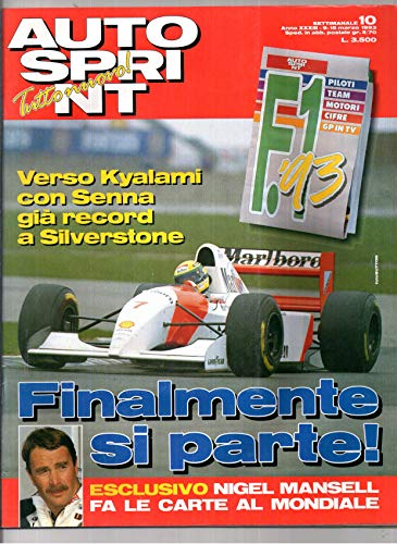 Autosprint Auto sprint 10 del Marzo 1993 Senna Mansell Patrese