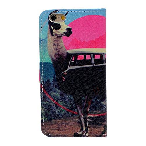 Rabat Portefeuille Apple iPhone 6S Plus Coque, PU Cuir Lumiere iPhone 6 Plus Case Cover, Belle Créatif Motif Serie Color-1