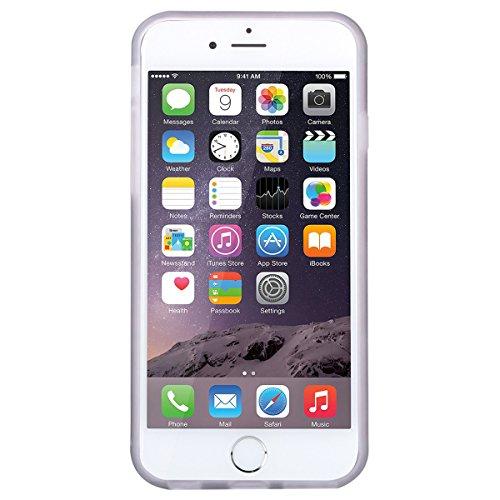 GrandEver iPhone 6/iPhone 6S Hülle Weiche Silikon Handyhülle Marmor Muster TPU Bumper Schutzhülle für iPhone 6/iPhone 6S Rückschale Klar Handytasche Anti-Kratzer Stoßdämpfung Ultra Slim Rückseite Sili Rose Gold und Schwarz 1