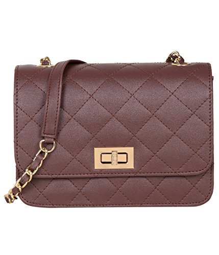 ADISA SL5008 brown women / girls quilted sling bag