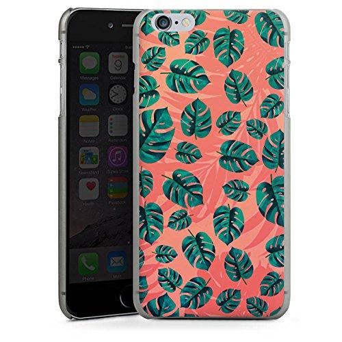 Apple iPhone X Silikon Hülle Case Schutzhülle Blätter dschungel Natur Hard Case anthrazit-klar