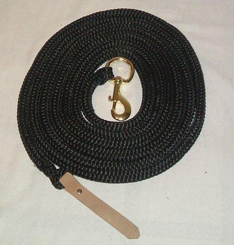Bodenseil PP schwarz mit Boltsnap und Lederklatsche Polypropylen (Western Zubehör)