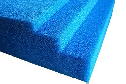 Teich - Filterschaum / Filtermatte blau 100 x 100 x 5 cm fein PPI30