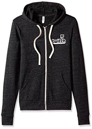 Twitch - Logo Full Zip Hoodie - Männer - Grau - XX-Large (Sweatshirt Männer Hoodie Zip-up)
