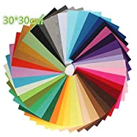 Crafts DIY Felt Cloth Nonwoven Fabric Sheet for Arts and Crafts 42 Colors30*30cm