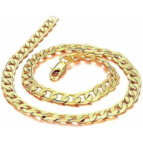 AnaZoz Joyería de Moda Pulsera Brazalete Link Para Hombres 18K Chapado en Oro Compromiso de Boda Personalidad Simple