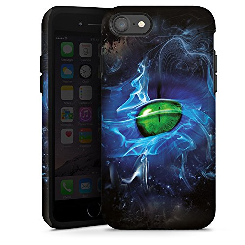 Apple iPhone X Silikon Hülle Case Schutzhülle Augen Grün Eye Tough Case glänzend