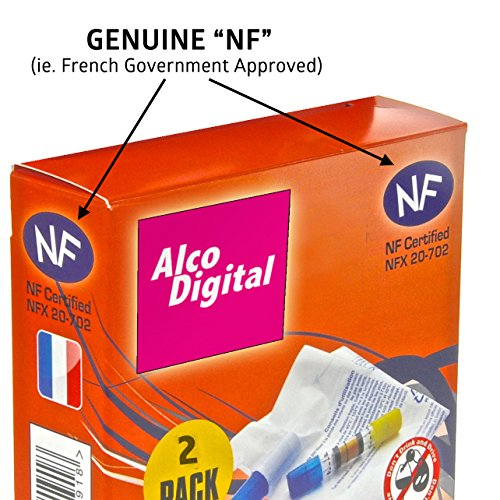AlcoDigital French NF Approved Breathalyzer (Twin pack)