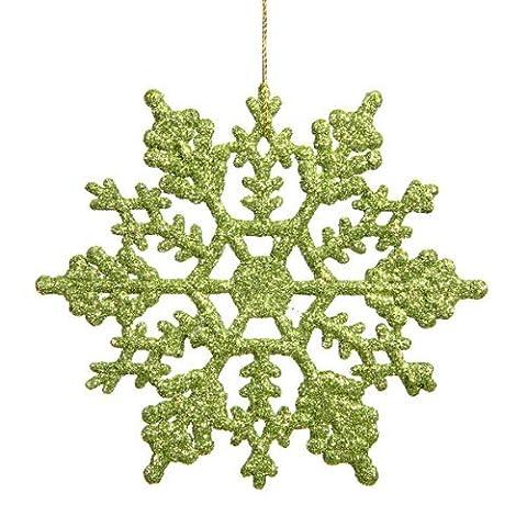 Lugii Cube 10,2cm Paillettes Plastique Flocon de neige 24par boîte, vert