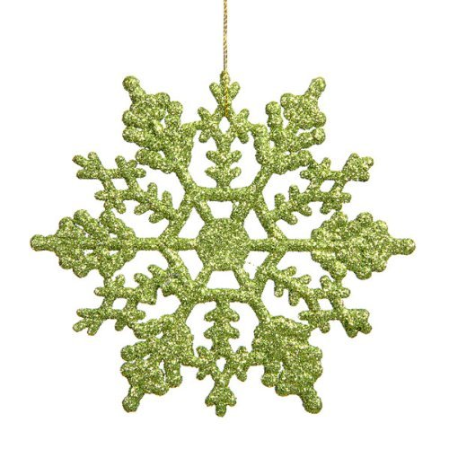 zer Kunststoff Schneeflocke 24pro Box, grün (Funkelnde Leggings)