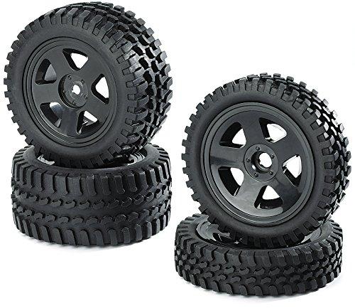 Carson 500900027 - 1:10 Reifen/Felgen-Set All Terrain, Modellbauzubehör, schwarz