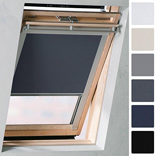 Sol Royal SolReflect D12 Dachfenster Rollo Verdunkelung & Thermo Hitzeschutz für 61x80 cm MK04 Anthrazit