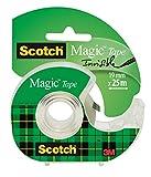 Scotch Magic Rouleau de ruban 19 mm x 25 m Transparent