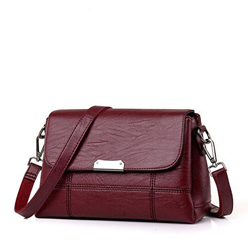 LiZhen di mezza età pacchetto femmina madre custodia nuovi pacchetti per autunno e inverno, elegante e piccolo sacchetto singolo borse a tracolla messenger bag, vino rosso (soft) Vino rosso (soft)