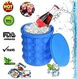 OFFRE SP�CIALE PLUS PRIME Ice Cube Maker Genie, économiseur d'espace révolutionnaire Ice Ball Maker Bucket Party Baignoire Bacs Silicone Moule Outils de cuisine pour le refroidissement, Cocktail, boissons et plus