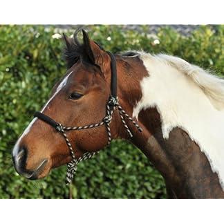 HKM 1400 Knot Headcollar, Knoti Training Halter Horsemanship, Pony Cob Full 7