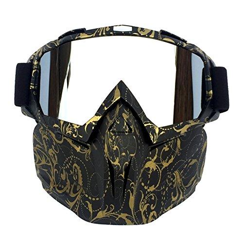HCMAX Motociclo Occhiali da Moto Maschera Viso Rimovibile Casco Fog-Proof Occhiali Bici per Deserto Fuori Strada Equitazione da Corsa Uomini Donne