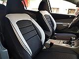 Sitzbezüge k-maniac | Universal schwarz-Weiss | Autositzbezüge Set Vordersitze | Autozubehör Innenraum | Auto Zubehör für Frauen und Männer | V1033379 | Kfz Tuning | Sitzbezug | Sitzschoner