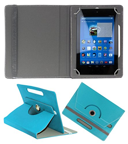 ACM ROTATING 360° LEATHER FLIP CASE FOR DELL VENUE 7 3740 TABLET STAND COVER HOLDER GREENISH BLUE  available at amazon for Rs.149