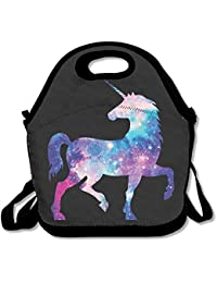 Xiisxin Galaxy Unicorn Lunch Tote Bag - Large & Thick Insulated Tote - Suit For Men Women Kids