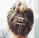 Gemini _ Mall® 4pcs Punk Ciseaux Design en métal pour fille Barrettes à cheveux Claw Accessoires