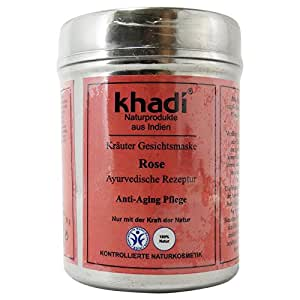 khadi aging maske mit blumenbl tter von rose f r die reife haut trockene und sensible amazon. Black Bedroom Furniture Sets. Home Design Ideas