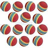 ELECTROPRIME 20Pcs/Pack Rainbow Stripe Foam Sponge Golf Balls Swing Practice Training AIDS