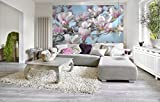 Komar - Fototapete MAGNOLIA - 368 x 254 cm - Tapete, Wand, Dekoration, Wandbelag, Wandbild, Wanddeko, Magnolienblüten, Magnolienblume, Frühling - 8-738