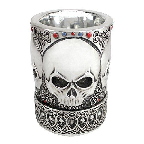 Design Toscano Gothic Skull Vessel and Pen Set by Design Toscano