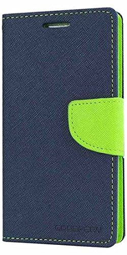 Samsung Galaxy S Duos 7562/ GT7582 Mercury Flip Wallet Diary Card Case Cover (Blue/Green) By Mobile Life ...  available at amazon for Rs.189