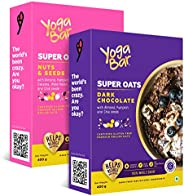 Yogabar Nuts and Seeds   Dark Chocolate   Flavour Premium Super Oats Combo Pack   400gm Each