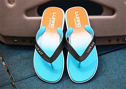ALUK- Sandales d'été - Hommes Pieds Wear Wear Trend Simple Beach Cool Chaussons ( Couleur : Bleu , taille : 44 ) Bleu