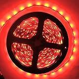 LED Strip Lights, SuperonlineMallTM 12V DC 16.4ft/5m No-Waterproof LED Flexible Light Strip, 300 LEDs, 3528 SMD, Lighting Strips, LED Tape (Red)