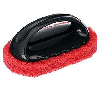 ALCYONEUS 1Pc Home Kitchen Sponge Cleaning Brushes Bathroom Tiled Range Hood Brush (Red + Black)