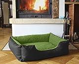 Beddog letto per cane/gatto cuccia LUPI S fino a XXL, 24 colori a scelta, cuscino per cane, divano per cane, cestino per cane, nero/verde S