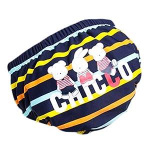 Bebé pañales de natación reutilizables ajustables absorbentes ajusta pañales, A09 13