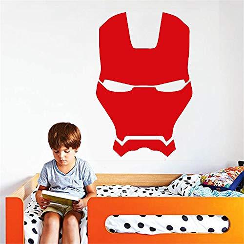 Wandaufkleber Schlafzimmer Kreative Marke Iron Man Helm für Kinderzimmer Mulit Größe