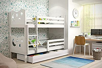 Bunk Bed MAX new model! With free mattresses & storage FREE DELIVERY! White - inexpensive UK light shop.
