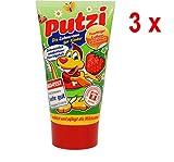 Putzi Zahncreme für Kinder Erdbeere - 3er Pack