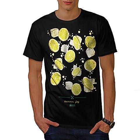 Summer Joy Lemon Holiday Men M T-shirt | Wellcoda