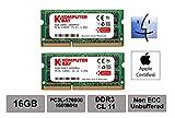 Komputerbay 16GB Dual Channel Kit 2x 8GB 204pin 1.35v DDR3-1600 SO-DIMM 1600/12800S (1600MHz, CL11) für MAC und PC