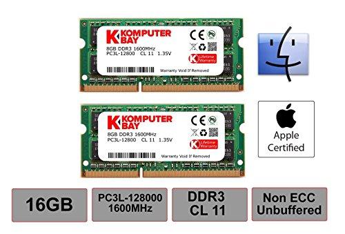 Komputerbay–set di 2moduli da sodimm ddr37–7-7–20pc38500204-pin per apple 1066mhz 2x 2gb
